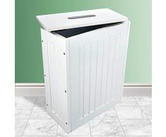 Armario de baño de Madera Blanca con Espejo para Montar en la Pared o en armarios de pie y cajones, Mueble para el hogar Tallboy (Unidad de línea Lima)