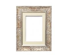 Memory Box Amplio Marco de Fotos y pósteres con plexiglás de poliestireno irrompible para una Alta claridad. Montura de Color Blanco con Marfil.