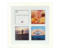 Inov8 16 x 40,64 cm Insta-Frame Marco para Instagram 4/de estampado a cuadros de fotos con paspartú blanco y negro con borde, 2 unidades, crema 306