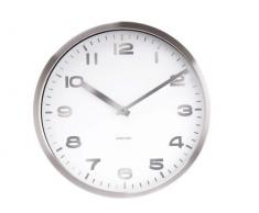 Karlsson Mirror - Reloj de pared, números, color blanco