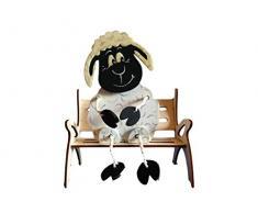 Petra s Manualidades (News a de beh8214gb Juego de manualidades, oveja de peluche (de jardín con banco, madera
