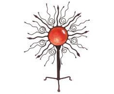 Naeve Leuchten 507821 Orient - Lámpara de mesa decorativa (E14, 40W, 50 cm, diámetro de 37 cm, metal y plástico), color rojo y marrón