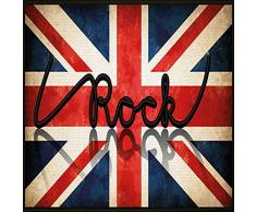 Tapis Déco - 1740307, Tapete Rectangulo , 57 X 115 Cm , I Love Rock , Estampado