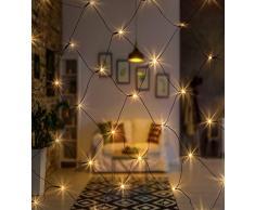 AMARE Außenlichternetz Cadena de luces, blanco cálido, Lichternetz 160 LED - 320 x 150 cm