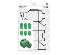Docrafts - Set de troqueles (acero al carbono, A4), diseño de árbol de Navidad