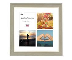Inov8 16 x 40,64 cm Insta-Frame mosaico de marcos de fotos para Instagram 4/de estampado a cuadros de fotos con paspartú blanco y blanco con borde, 2 unidades, se debe lavar a Gris oscuro