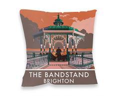 Esteban millership Brighton quiosco de música Impresión cojín, Multicolor