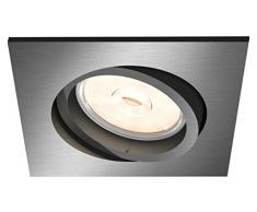 Philips myLiving DONEGAL grey LED Recessed spot light - Punto de luz (Recessed lighting spot, GU10, 1 bombilla(s), LED, 220-240 V, Gris)