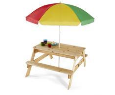 Plum - Mesa de jardín infantil con parasol