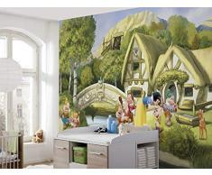 Komar Disney Fototapete Von SNOWWITHE Tapete, Kinder, Wand, Kinderzimmer, Dekoration-8-4110 Papel Pintado con fotografía, carbón, Größe: 368 x 254 cm (Breite x Höhe), 8 Teile
