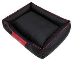 Hobbydog Cesarean - Cama para Perro, tamaño 2, Color Negro y Rojo