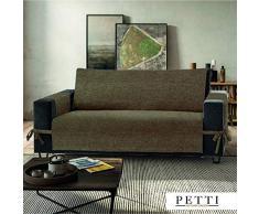 PETTI Artigiani Italiani Funda de Sofa, Tela, Barro, 3 Plazas (170-175 cm de apoyabrazos a apoyabrazos)