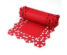 TOYLAND - Vajilla de Navidad con diseño de Copo de Nieve, 2 m, Color Rojo