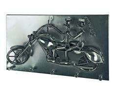 Haku Möbel 32823 perchero de pared, 39 x 24 x 14 cm, colour negro/de níquel