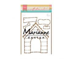 Marianne Design Plantilla casa de Perro por Marleen para Scrapbooking, creación de Tarjetas y Otras Manualidades con Papel, 21 x 15 cm