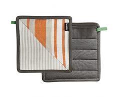 Ladelle 40419 Nanterre guantes de cocina algodón naranja 21 x 21 cm