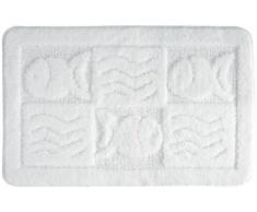 Gelco Design 702954 Sea - Alfombrilla de baño (50 x 80 cm), color blanco