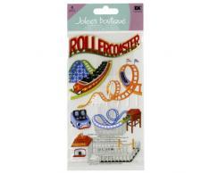 Jolees Jolee de Boutique Dimensional stickers-roller Posavasos, otros, multicolor