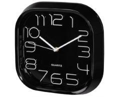 Hama PG-280 Quartz wall clock Plaza Negro - Reloj de pared (AA, Negro, De plástico, Vidrio, 280 mm, 46 mm)