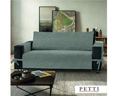 PETTI Artigiani Italiani Funda de Sofa, Tela, Gris, 4 Plazas (230-235 Cm de apoyabrazos a apoyabrazos)