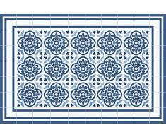 VINILIKO Concret Blue Alfombra de Vinilo, Multicolor, 66x100