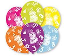 ToyCentre Amscan 27,5 cm, diseño de all round edad 3/6 globos de látex