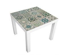 Wall Plus - Adhesivos Decorativos para Pared, diseño de Azulejos Verdes, Vinilo, 7,6 x 63,5 x 3 cm