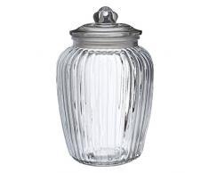 Premier Housewares Tarro de Cristal de diseño Vintage, 2280 ml, 15x15x25