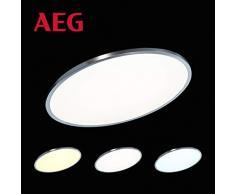 AEG Devin lámpara, metal, níquel anodizado