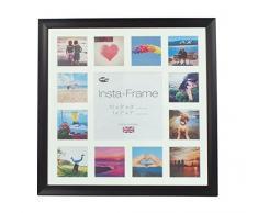 Inov8 16 x 40,64 cm Insta-Frame Marco para Instagram 13/de estampado a cuadros de fotos con paspartú blanco y blanco con borde, 2 unidades, diseño de Lucky Day Studio negro