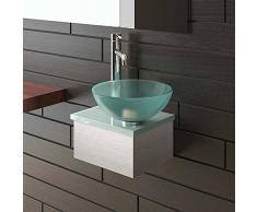 Satén limitada Cristal Lavado – Cuenco (Diámetro: 31 cm Con Satén limitada lavabo placa 32 cm de Alpen Berger®