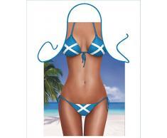 Iconic Delantales de Bikini escocés Delantal, Poliéster, 79x 56x 0,1cm