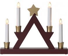 Star 271 – 33, candelabro Julle, madera, E10, marrón, 6.0 x 33.0 x 26.0 cm