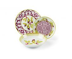 Excelsa Taggia - Vajilla de 18 piezas, de porcelana