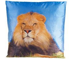 Tacto suave diseño de León con relleno cojín, Multicolor, 45 x 45 cm