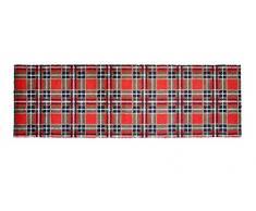 Alfombrilla LifeStyle 100703 Rombos, alfombra antideslizante y lavable, ideal para el armario, la cocina o el dormitorio, 50 x 150 cm, rojo / marrón