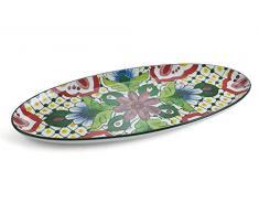 Villa DEste Home Tivoli 2195144 - Plato ovalado decorativo, diseño de dolomita