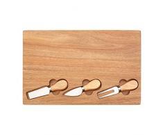 Premier Housewares 1104706 - Tabla para queso (madera de acacia, madera de hevea, acero inoxidable)