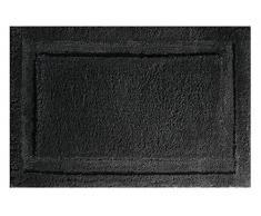 InterDesign - SPA - Tapete con Relieve de Microfibra Suave para Cuarto de baño, Antideslizante - 86 cm x 53 cm - Negro