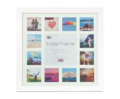 Inov8 16 x 40,64 cm Insta-Frame Kayla marco para Instagram 13/de estampado a cuadros de fotos con paspartú blanco y blanco con borde, 2 unidades, blanco