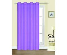 Forentex Cortinas Confección J-0576 Visillos Translúcida para Ventanas/Puertas, Polyester, Lila, 300x260 cm