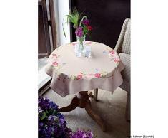 Vervaco PN-0021750 Manta Rosa Flores Mariposas