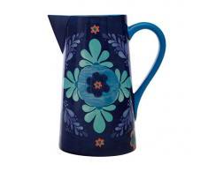 Maxwell & Williams Majolica Jarra de agua con diseño floral en caja de regalo, cerámica