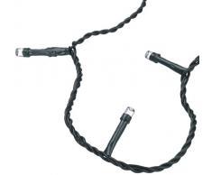 Hellum 560831 - Guirnalda LED de bajo consumo para interiores y exteriores (80 piezas) de 17,9 m, incluye alargador