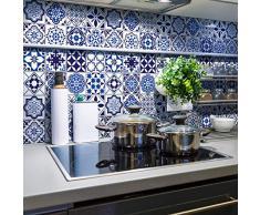 Stickers Adhesivos carrelages | adhesivo adhesivo Cuadros de cemento–Mosaico Azulejos de pared de baño y cocina | cuadros de cemento adhesiva pared–azulejos 20x 20cm–24piezas