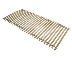 Interbett 800001 somier de láminas con ruedas 28, marco de madera, 28 listones de madera, montada, NV, 90 x 200 cm para todo tipo de colchón, sin metal, hasta un máximo de 120 kg