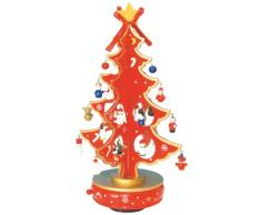 Musicbox World 16115 330mm - Árbol de Navidad musical, color rojo