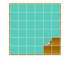 Adhesivo para azulejos para baño y cocina – 10 x 10 cm – Mint brillante – 1000 Adhesivos para azulejos para pared azulejos