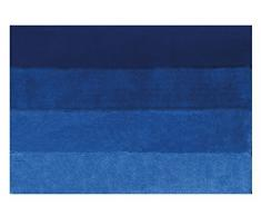 Spirella 55 x 65, Azul colección Four, Alfombrilla de Ducha, 90% Polyester-10% Acrílico
