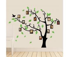 Walplus - Pared warenhandel imágenes de Marco de Fotos diseño de árbol de Navidad decoración Pegatinas de Papel Decorativo